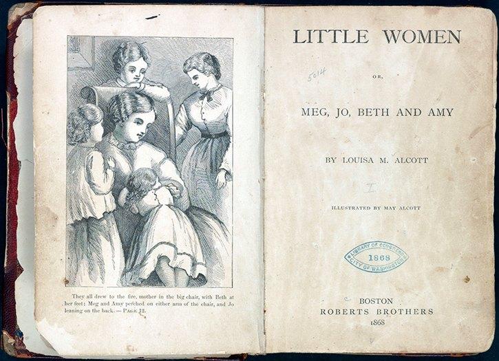 Copertina originale di Piccole donne